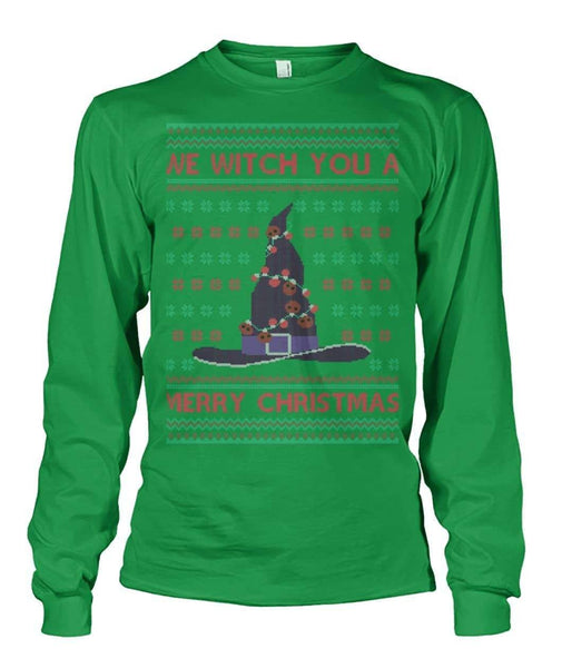 We Witch You A Merry Christmas Long Sleeve Shirt - Witch Apparel