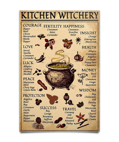 Kitchen Witchery  Poster - Witch Apparel