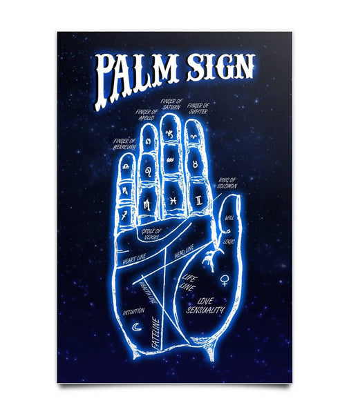 Palm Sign Poster - Witch Apparel