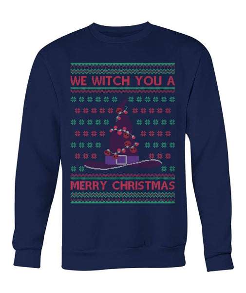 We Witch You A Merry Christmas Ugly Sweater - Witch Apparel
