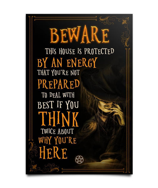 Beware  Poster - Witch Apparel