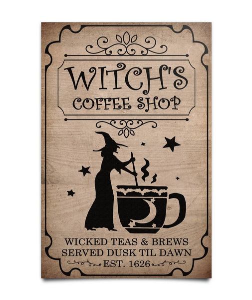 Witch's Coffee Shop Poster - Witch Apparel