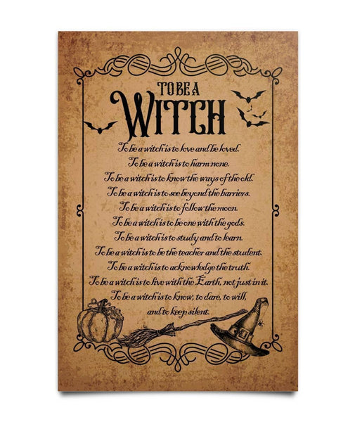To Be A Witch Poster, Magic Knowledge Wall Decor - Witch Apparel