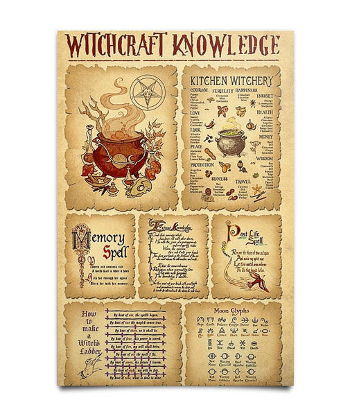 Witchcraft Knowledge Poster - Witch Apparel
