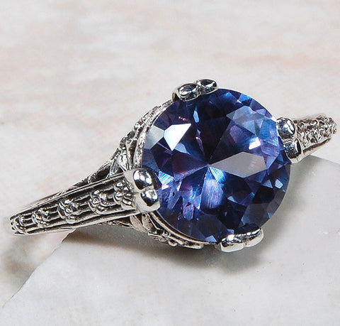 2ct Deco Style Alexandrite Ring