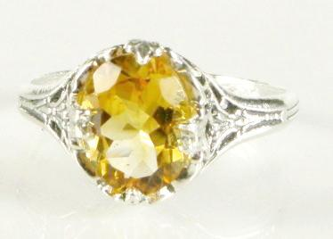 2ct Vintage Citrine Ring