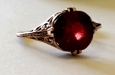 Estate 3ct Ruby Ring in Rose Gold