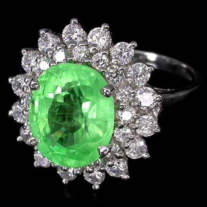 Emerald + White Sapphire Cocktail Ring-4.5 Carats