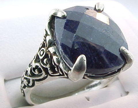 6ct Estate Opaque Sapphire Ring