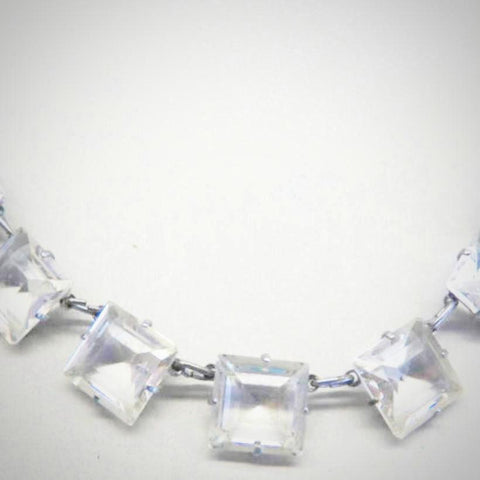 Art Deco Crystal Jewel Necklace
