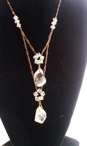 Art Deco Era Double Crystal Necklace