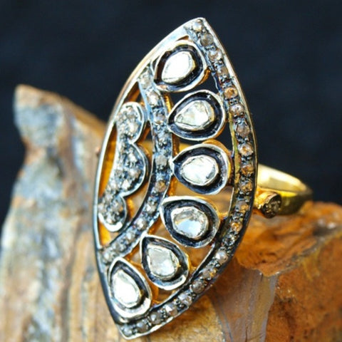 Diamond and Gold Ring - Size 8.5