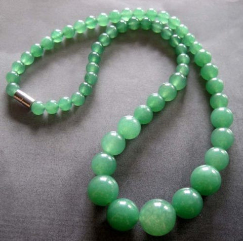 Pale Green Jade Necklace - 18