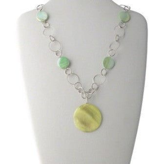 Pale Yellow + Green Necklace