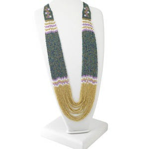 Seed Bead Multi-Colored Long Necklace