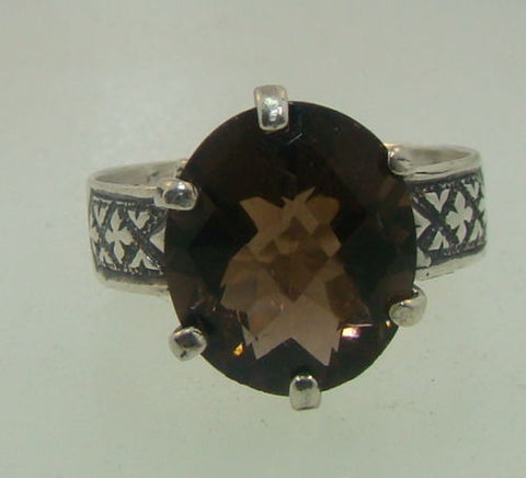 Victorian Smoky Quartz Ring - Size 6