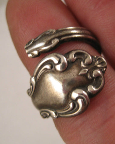 Vintage Sterling Spoon Ring - Size 7