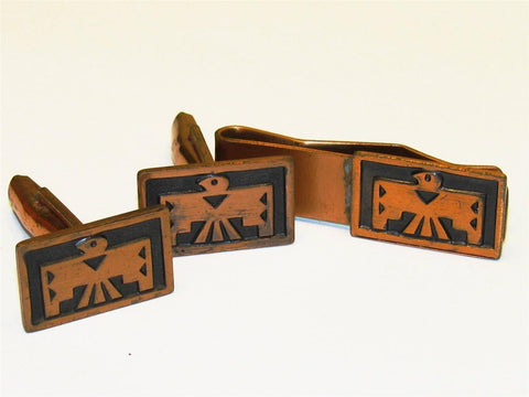 Vintage Copper Cufflink Set