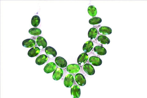 Peridot Collar Necklace - 20