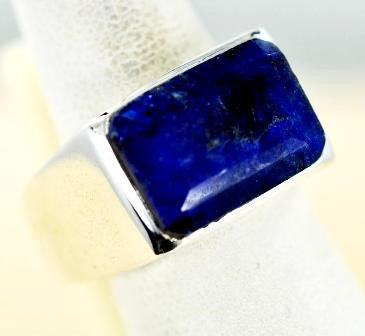 Sapphire Rectangle Ring - Size 10