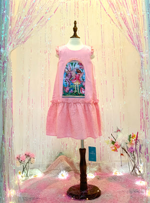 Enchanted Window Dress - Blush Pink Linen