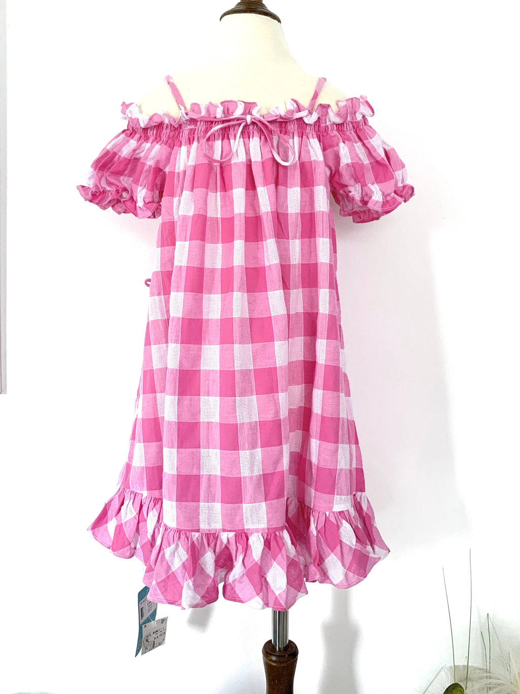 Two-way Pink Checkered Dress