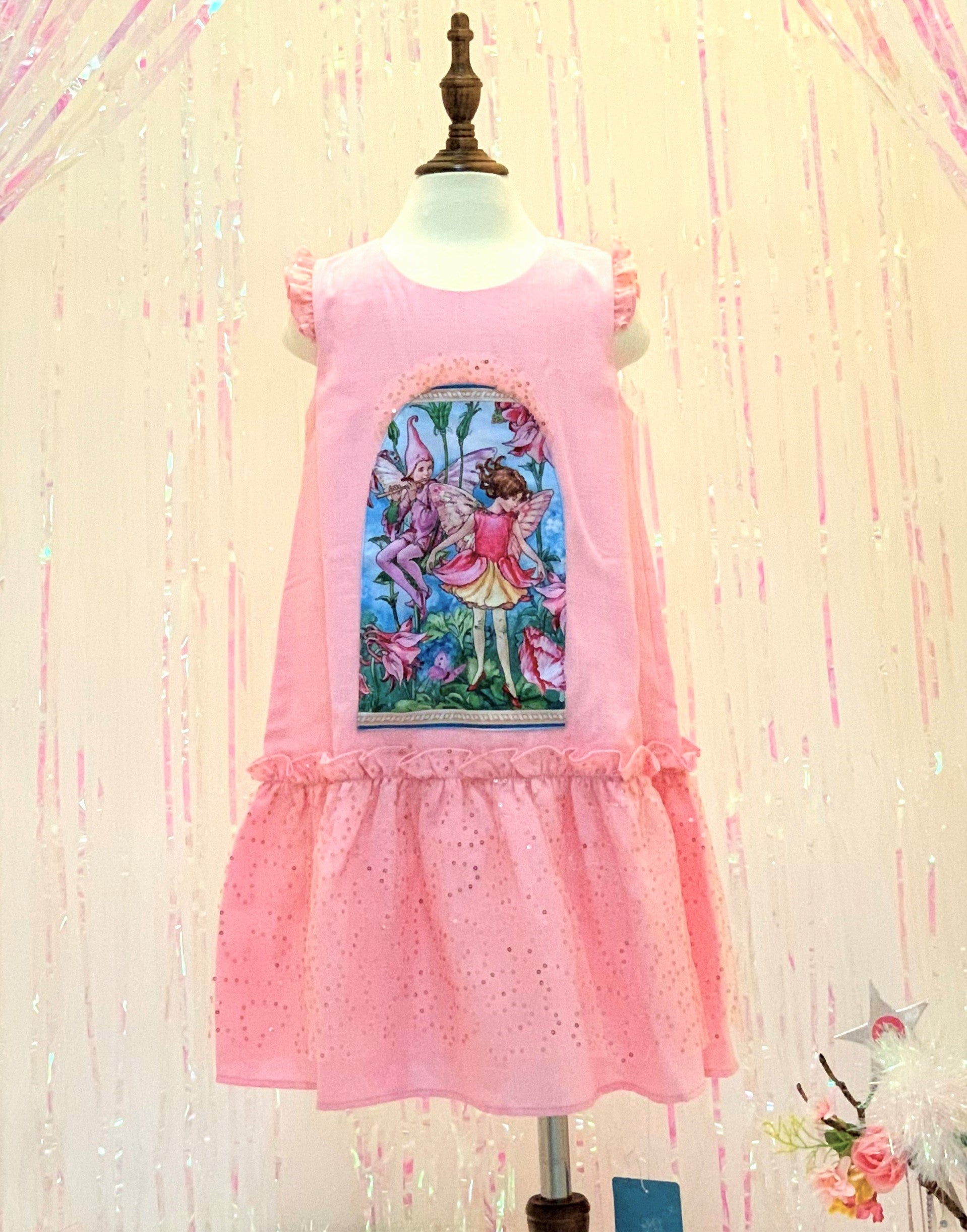 Pink Fairy Dress Linen Cooling Fabric