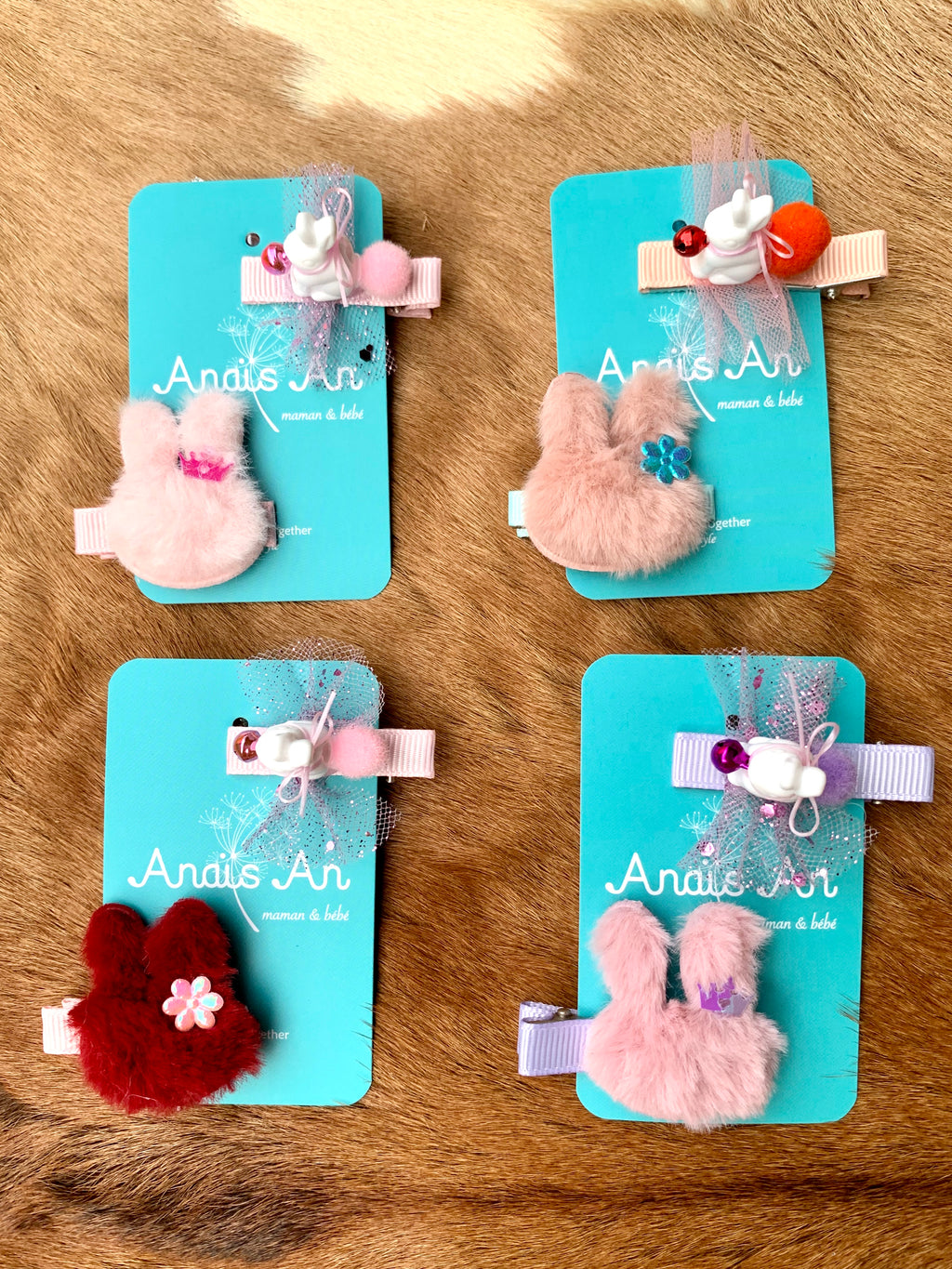 Limited Edition Rabbit Clips Set (4 colors available)