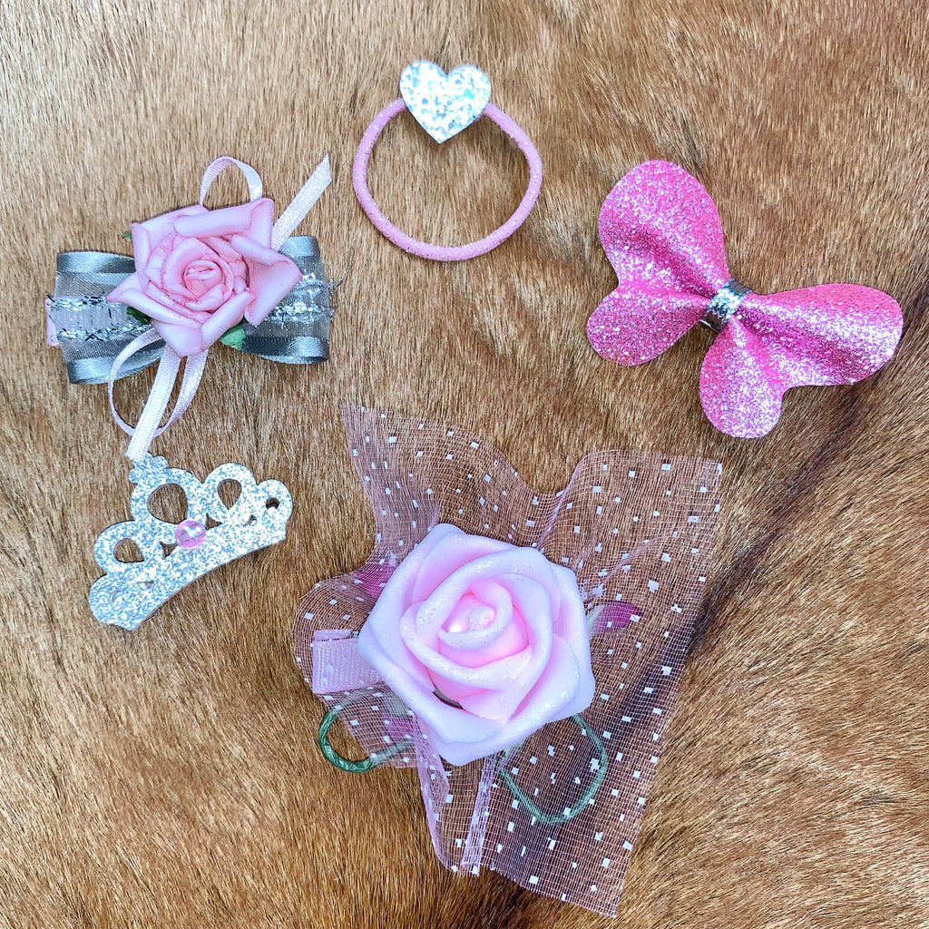 5 piece Rose hair accessories combo