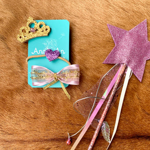 Purple Hairclip Set
