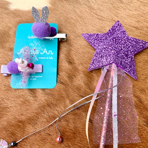 Purple Rabbit Hair Set - Small