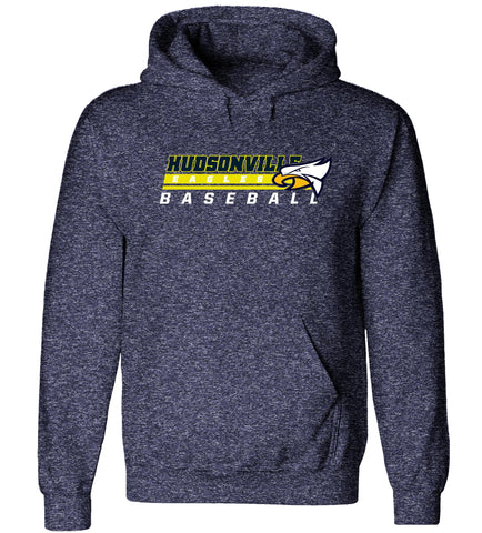 Hudsonville - Hooded Sweatshirt - Baseball Eagle