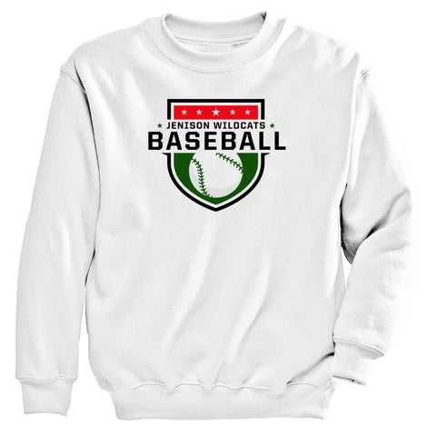 Jenison - Crewneck Sweatshirt - Baseball Shield