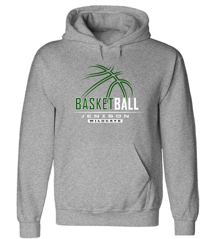 Jenison - Hooded Sweatshirt - Basketball Outline