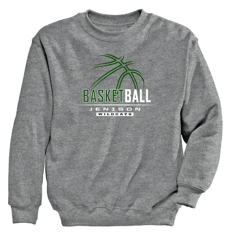 Jenison - Crewneck Sweatshirt - Basketball Outline