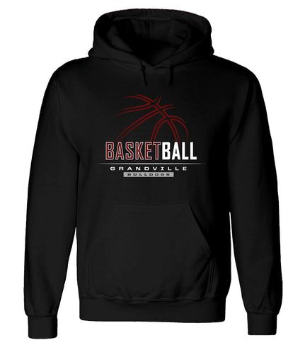 Grandville - Hooded Sweatshirt - Basketball Outline