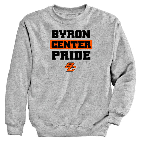 Byron Center - Crewneck Sweatshirt - Byron Center Pride