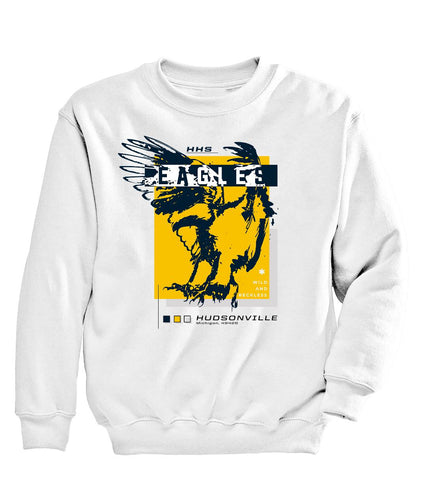 Hudsonville - Crewneck Sweatshirt - Eagle Colors