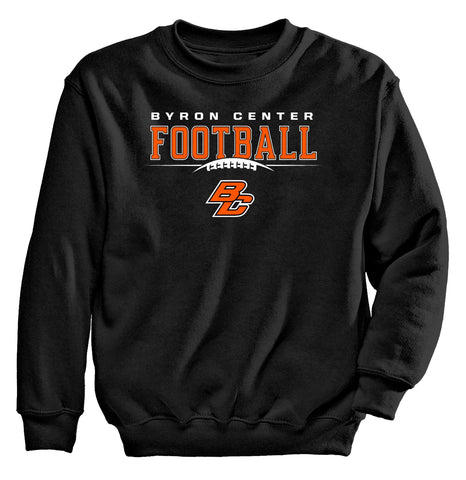 Byron Center - Crewneck Sweatshirt - Football BC