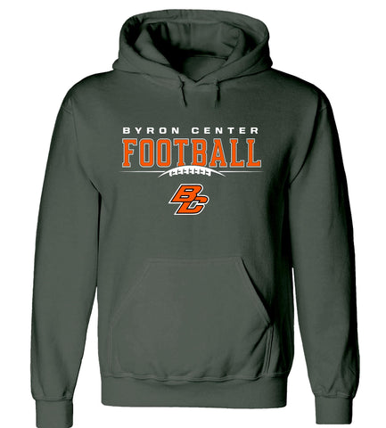 Byron Center - Hooded Sweatshirt - Football BC