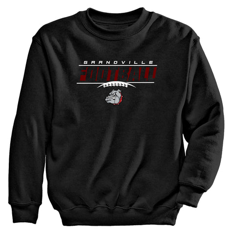 Grandville - Crewneck Sweatshirt - Football Bulldog Laces