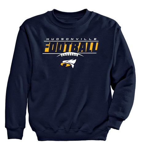 Hudsonville - Crewneck Sweatshirt - Football Laces