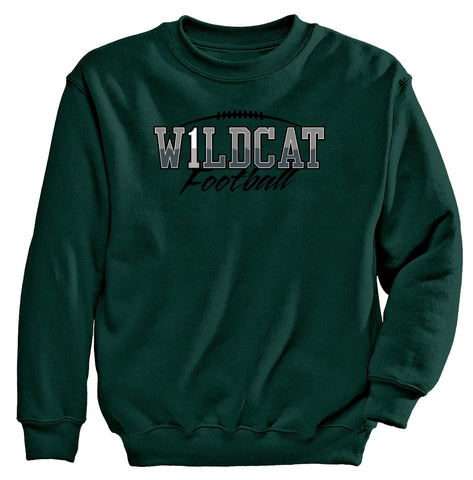"Jenison - Crewneck Sweatshirt - Football Wildcat ""1"""