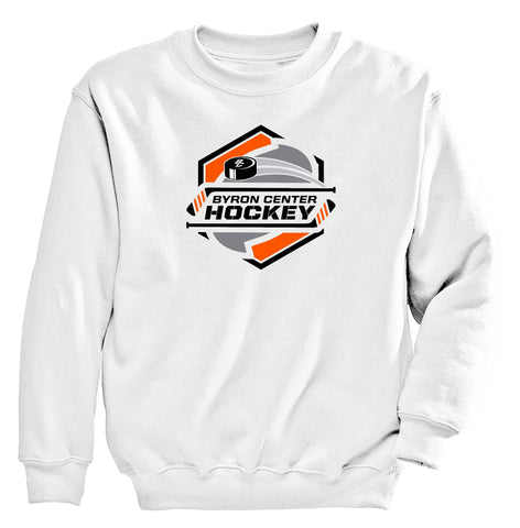 Byron Center - Crewneck Sweatshirt - Hockey Sticks