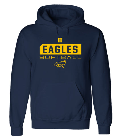 Hudsonville - Hooded Sweatshirt - Softball Eagles
