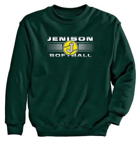 "Jenison - Crewneck Sweatshirt - Softball ""J"""
