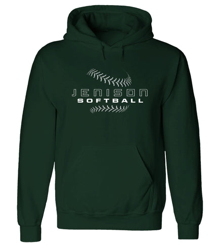 Jenison - Hooded Sweatshirt - Softball Laces