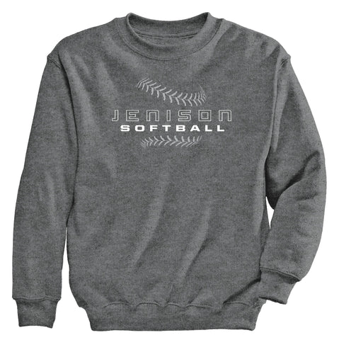 Jenison - Crewneck Sweatshirt - Softball Laces