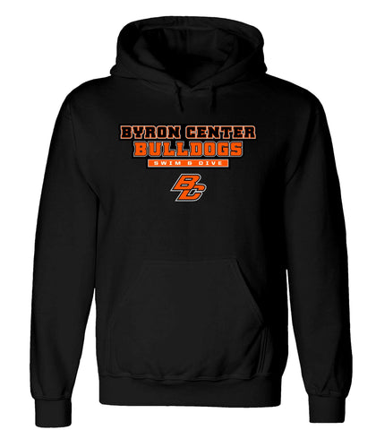 Byron Center - Hooded Sweatshirt - Swim & Dive