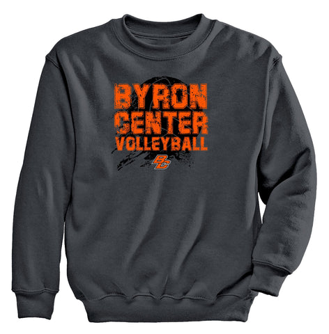 Byron Center - Crewneck Sweatshirt - Volleyball
